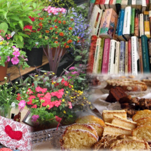 Plants, cakes, crafts and book sale