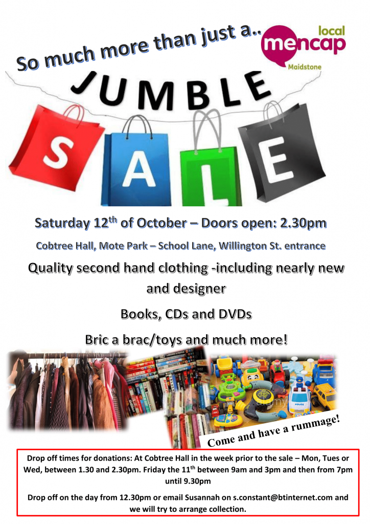 Jumble Sale - 12th October 2019